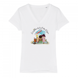 T-shirt col V - Les filles...